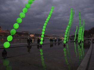 Les Algues lumineuses, Fête des Lumières Lyon 2011