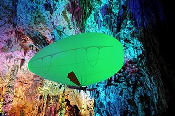 Aerosculpture-Aeroplume-voler_dans_la_grotte_de_la_Salamandre