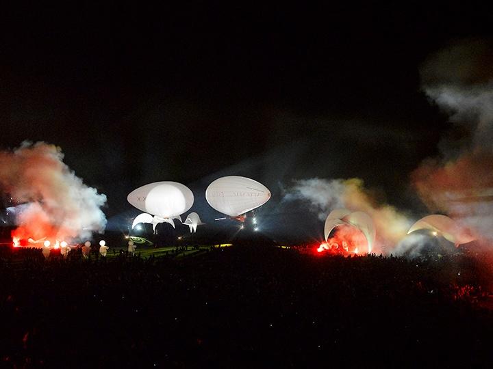 L'Aéroplume® Aérosculpture en spectacle